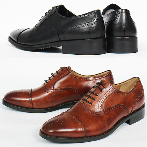 Handmade Leather Perforated Brogue Classic Oxfords 5540