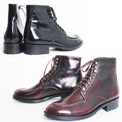 Handmade High top Split Toe Leather Boots 5403