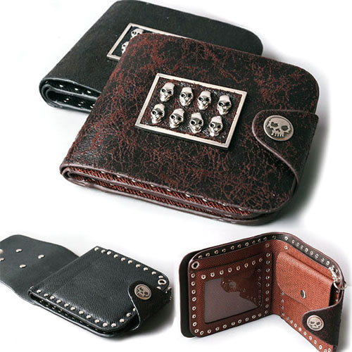 8-Skull Leather Wallet