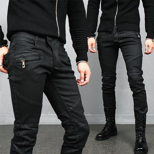 Kill City Wax Coated Stretch Junkie Jeans Black to basics motha fukkaaazz. These jeans are badder than bad. Killin it with their stretch fit that showz off yer tush these skinny jeans are killin it!