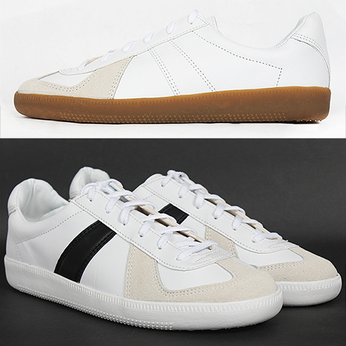 Contrast Suede Combi Lace Up Sneakers