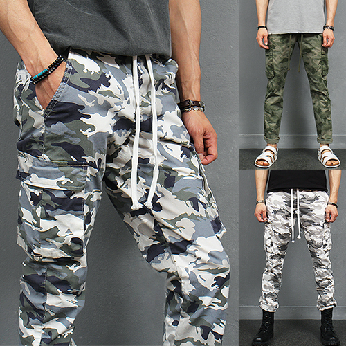 Military Style Camouflage Cargo Pocket Summer Sweatpants