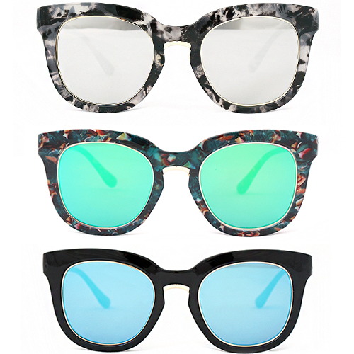 Mixed Marble Color Fashion Sunglasses - 1100