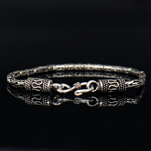 Genuine Sliver Antique Design Chain Bracelet S2