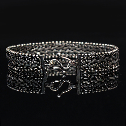 Genuine Sliver Diagonal Chain Design Chain Bracelet S3