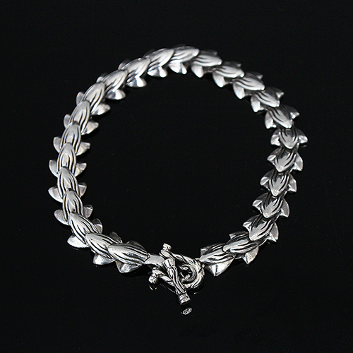 Genuine Sliver Unique Shape Design Chain Bracelet S4
