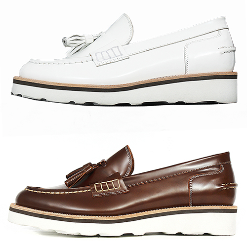 Handmade Leather Tassel Boat Loafers 5546