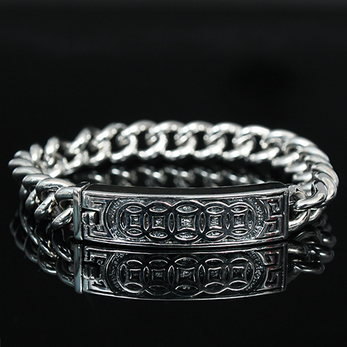 Genuine Sliver Antique Design Chain Bracelet S8