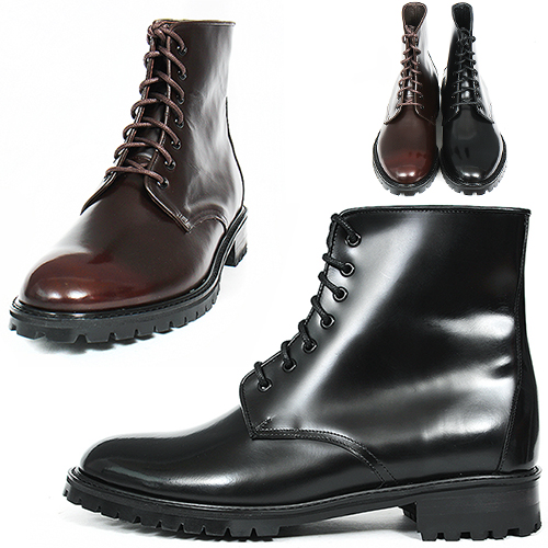 High Top Lace Up Round Toe Leather Boots 1610