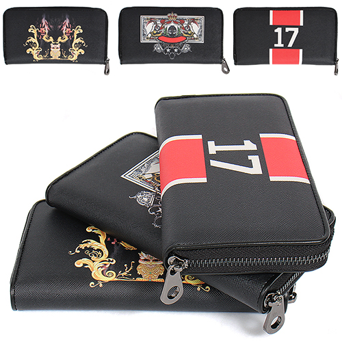 Logo Printing Zippered Long Card Wallet