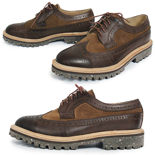 Handmade Suede Leather Wingtip Brogue shoes 5289