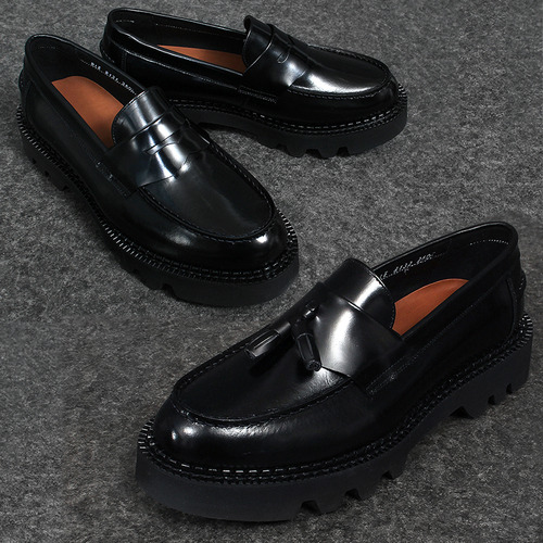 Thick Platform Sole Handmade Leather Loafers 8131 8132