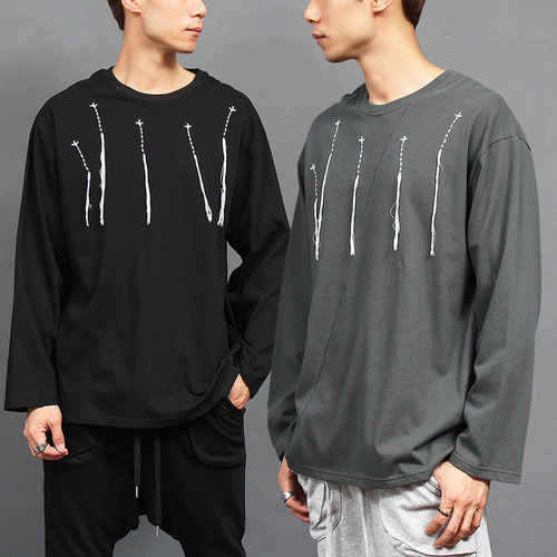 Avant garde Thread Stitch Loose Fit Boxy Tee