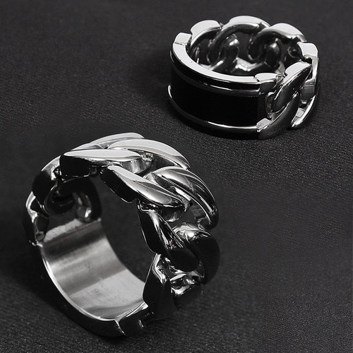 Half Chain Surgical Stainless Steel Ring R24
