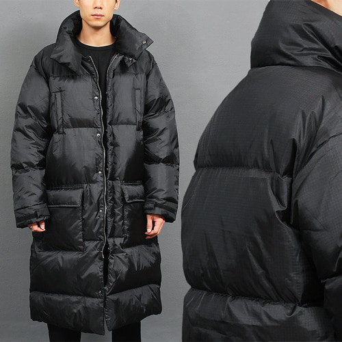 Big Over Sized Boxy Padded Duck Down Long Parka