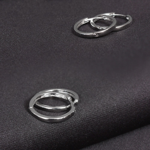 Surgical Stainless Steel Basic Ring Piercing Earring E3