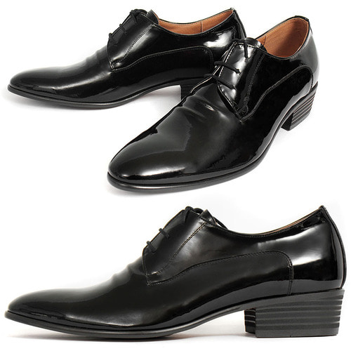Handmade 4 CM High Heel Patent Leather Oxfords 0601