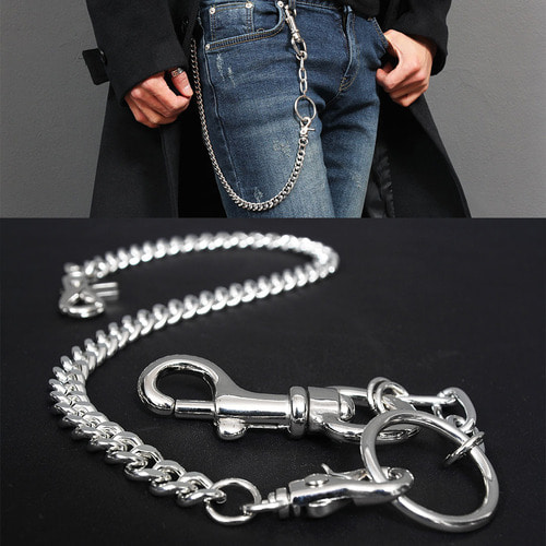 Jeans Pants 2 Step Ring Linked Sergical Steel Chain C2