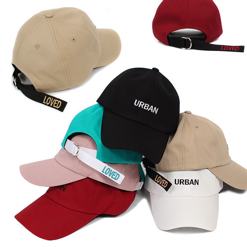 URBAN Logo Stitch Long Strap LOVED Logo Baseball Cap 002