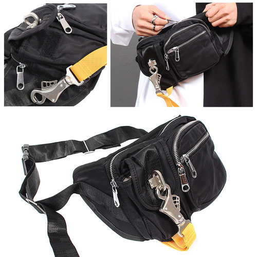 Big Buckle Hip Sack Back 001