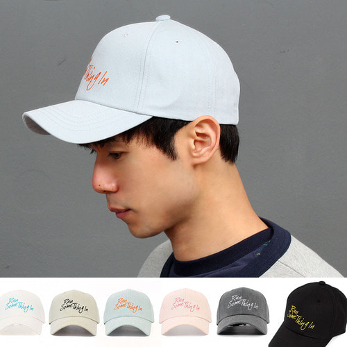 Run Logo Stitch Baseball Cap 003