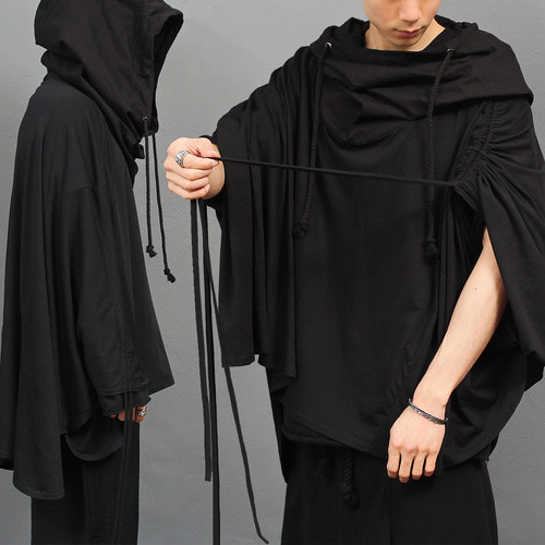 Avantgarde Big Over Hooded Poncho Cape