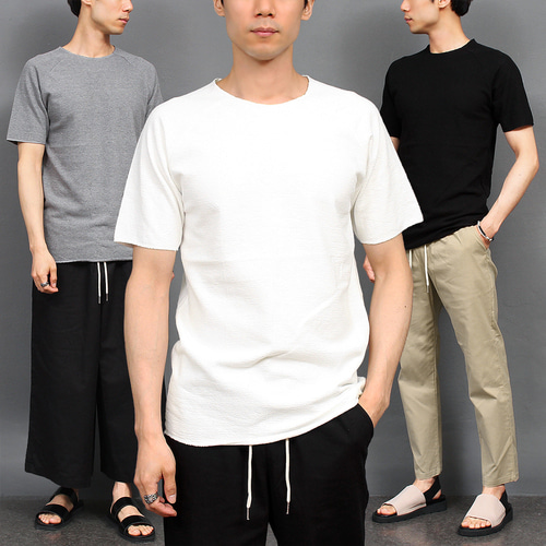 Basic Crew Neck Cotton Short Sleeve Tee 239
