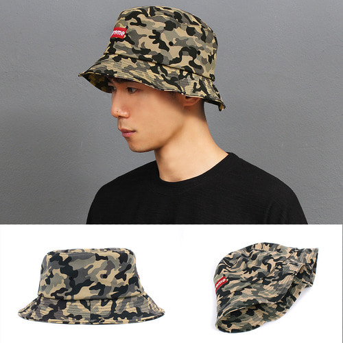 Camouflage Pattern Color Bucket Hat