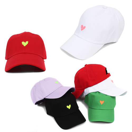 Heart Stitched Logo Color Baseball Cap 013