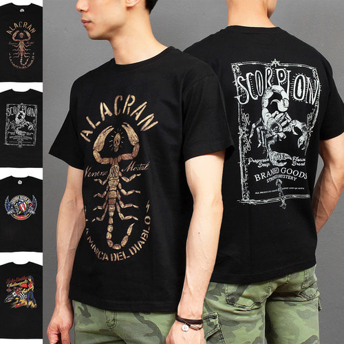Skull Scorpion Graphic Printing Sleeveless Boxy Tee 191