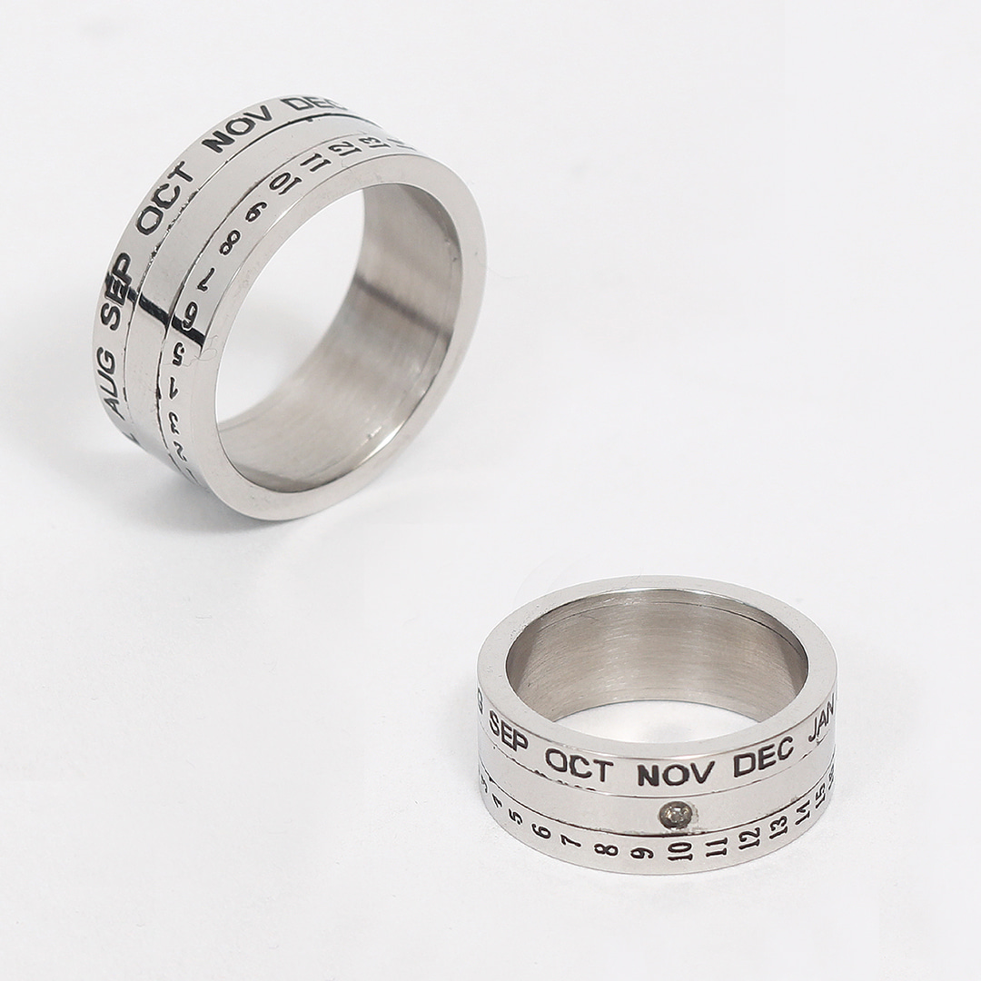 Calendar Surgical Stainless Steel Ring R51