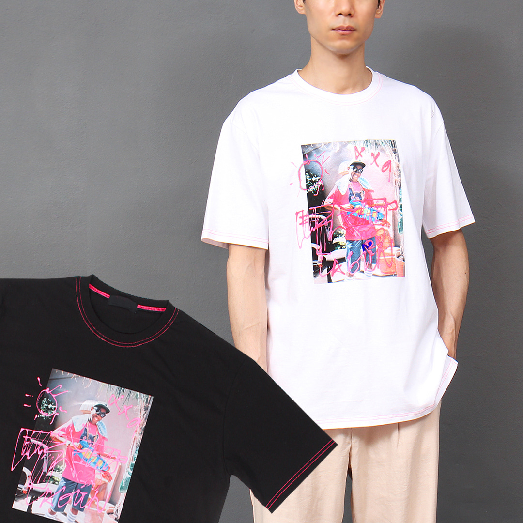 Street Fashion Graphic Printing Short Sleeve Tee 304