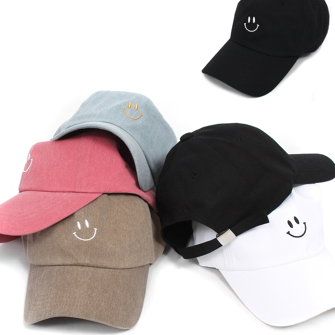 Smile Stitched Logo Color Baseball Cap 019