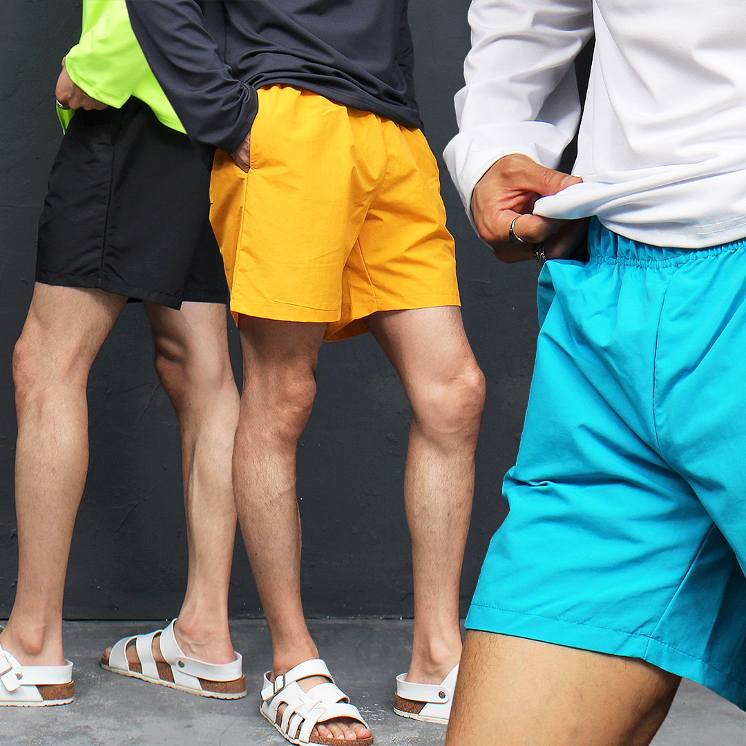 Beach Wear Water Proof Color Shorts 058
