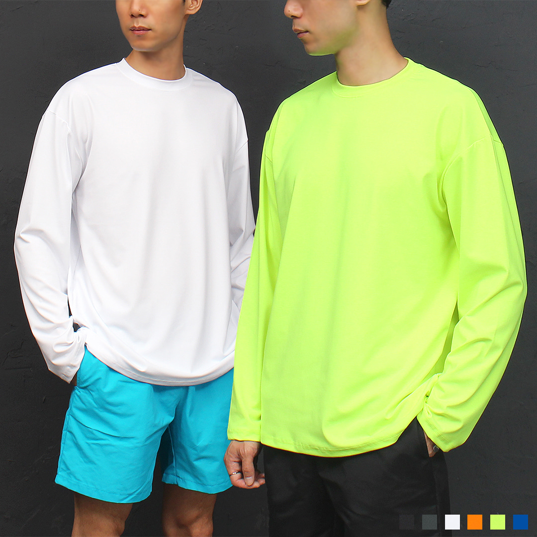 Loose Fit Rash Guard Swimsuit Color Tee 027