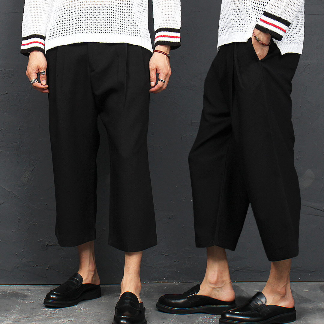 Low Crotch Wide Baggy Slacks Pants 038