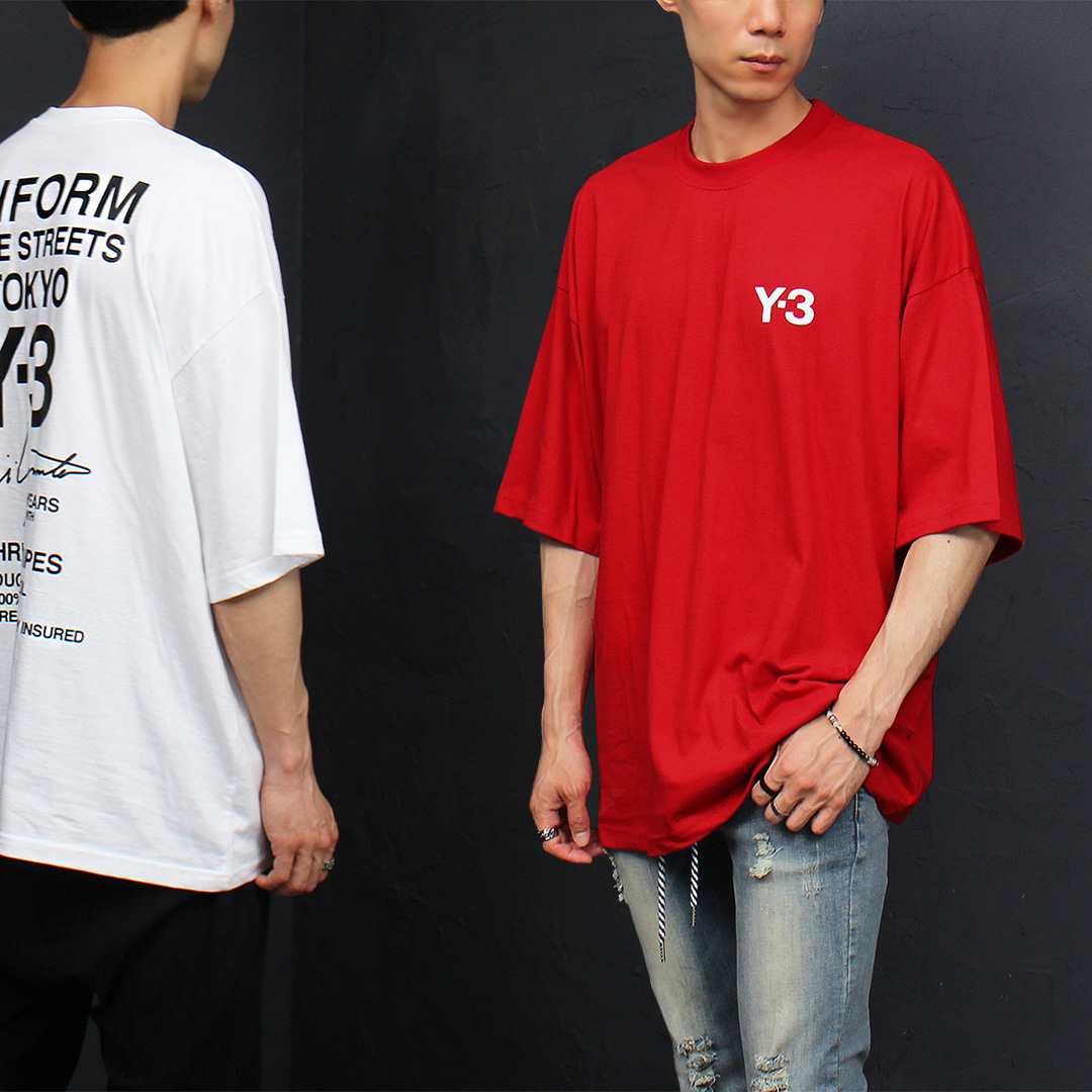 Loose Fit Logo Printing Boxy Short Sleeve Tee 321
