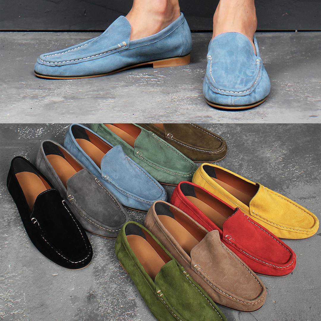 9 Color Lamb Skin Leather Loafers 003