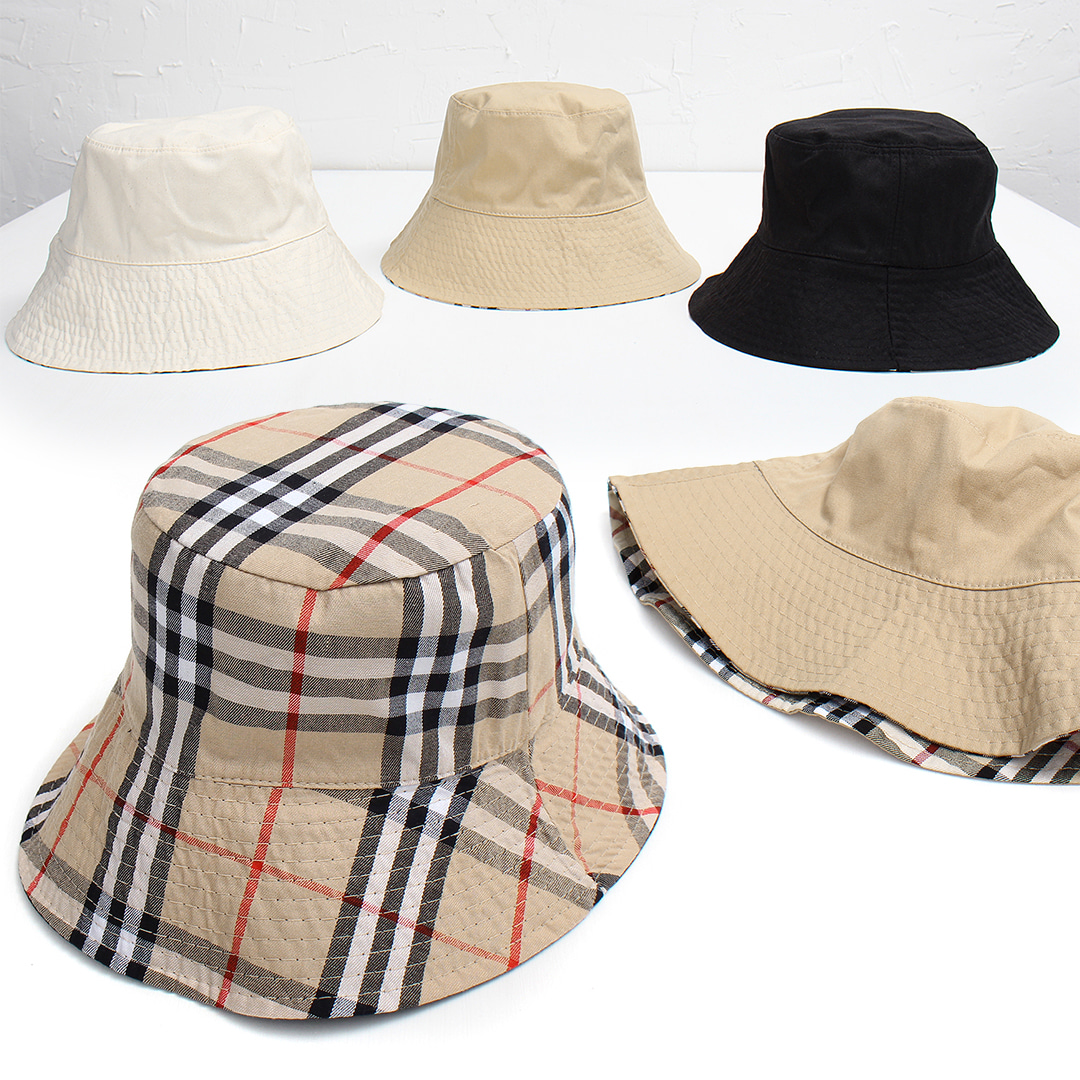 Reversible Check Color Bucket Hat 026