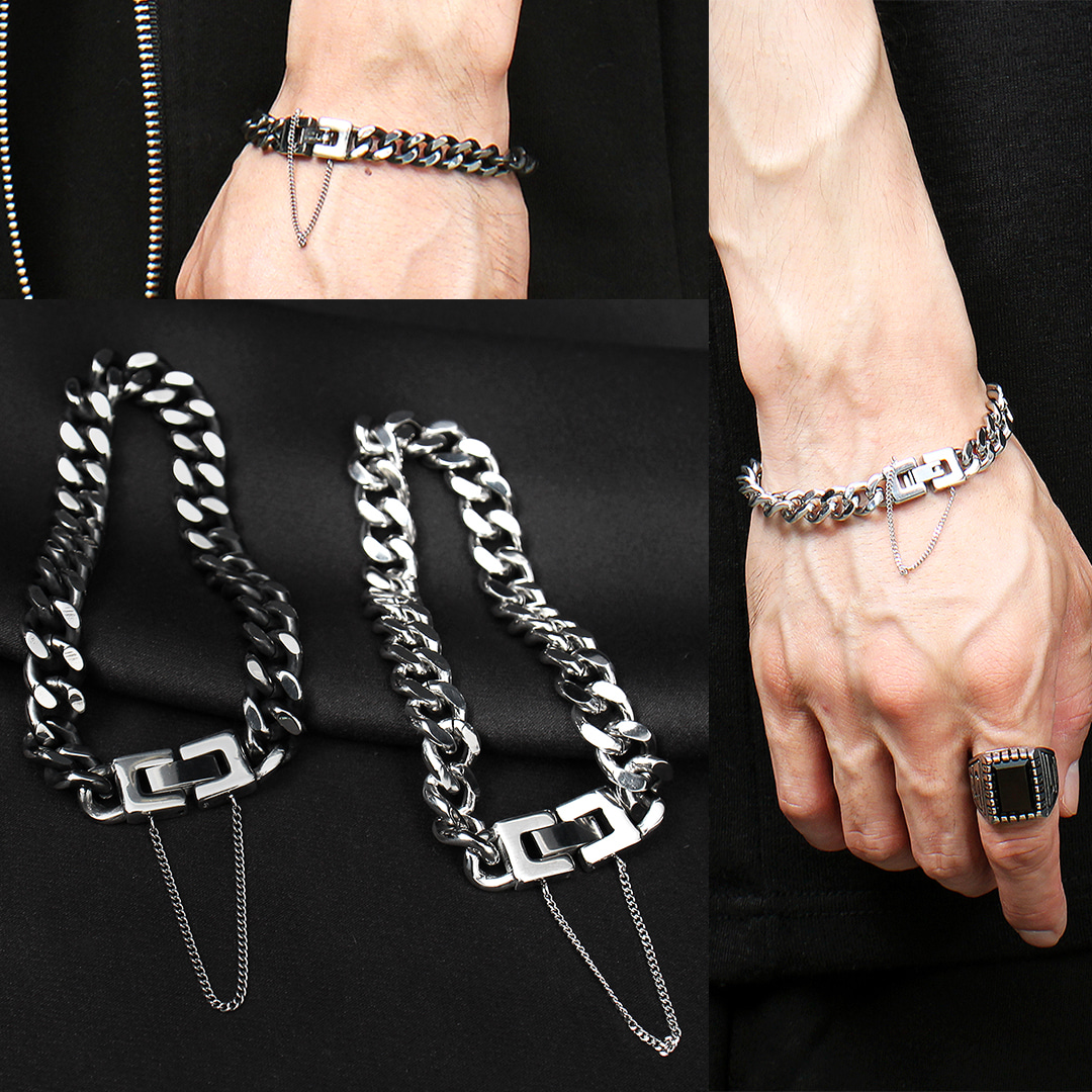 Stainless Steel Chain Bracelet B226