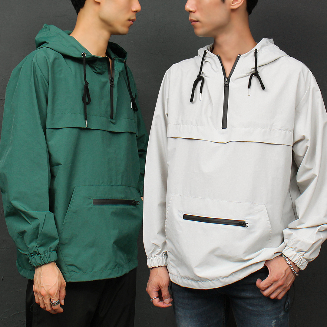 Wind Breaker Loose Fit Anorak Hoodie 033