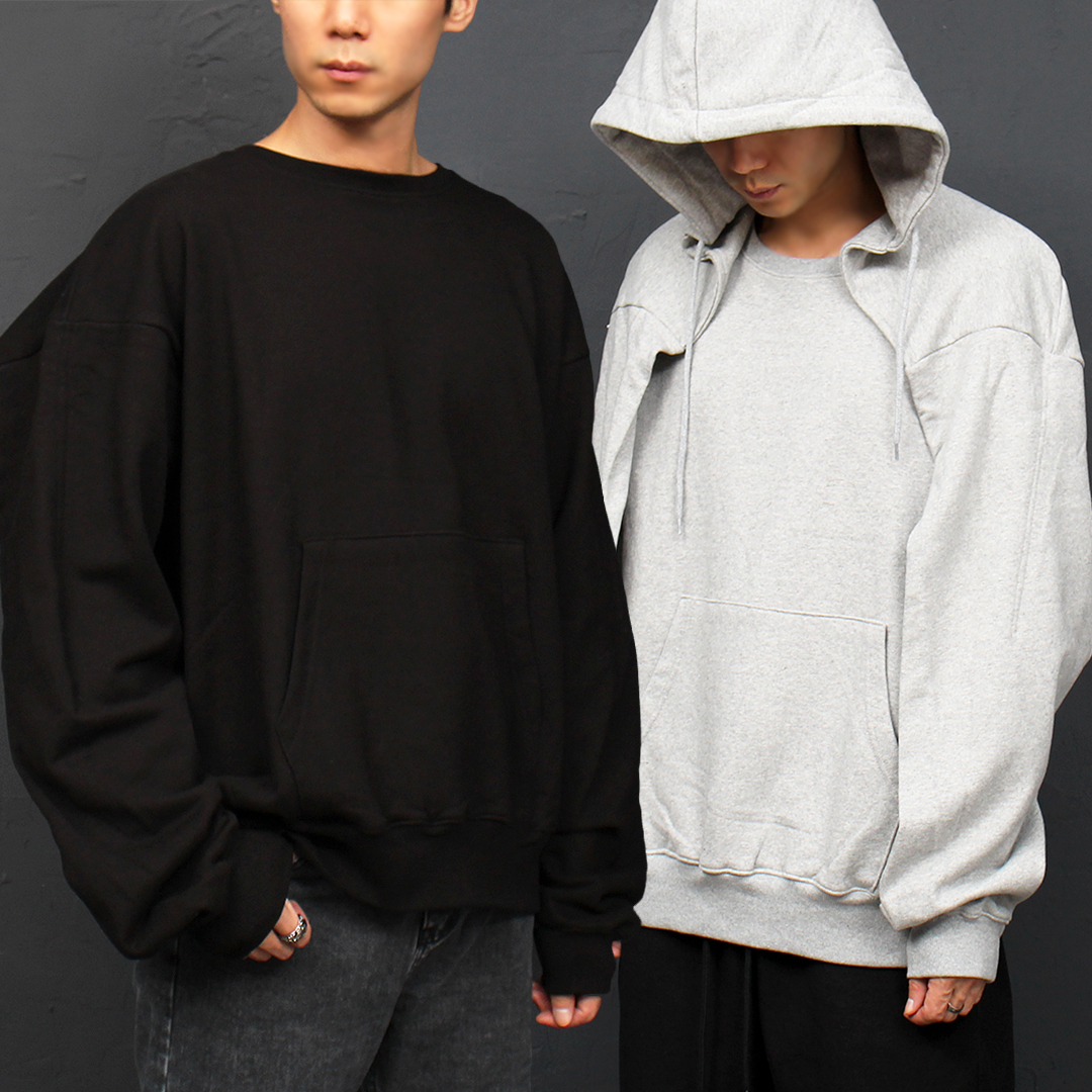 Big Flap Hooded Boxy Sweatshirt 056