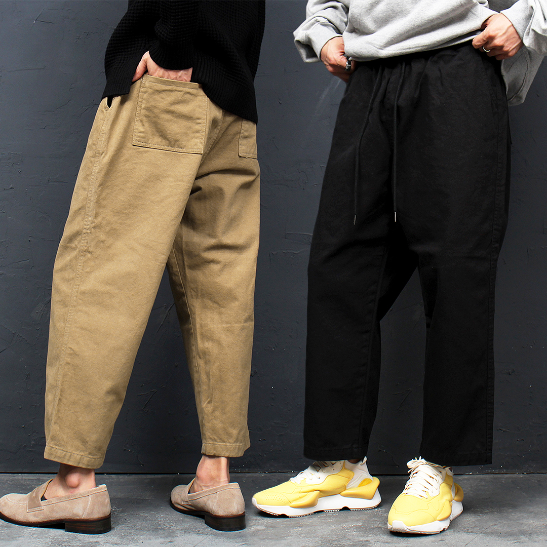Elastic Waist Wide Baggy Pants 052
