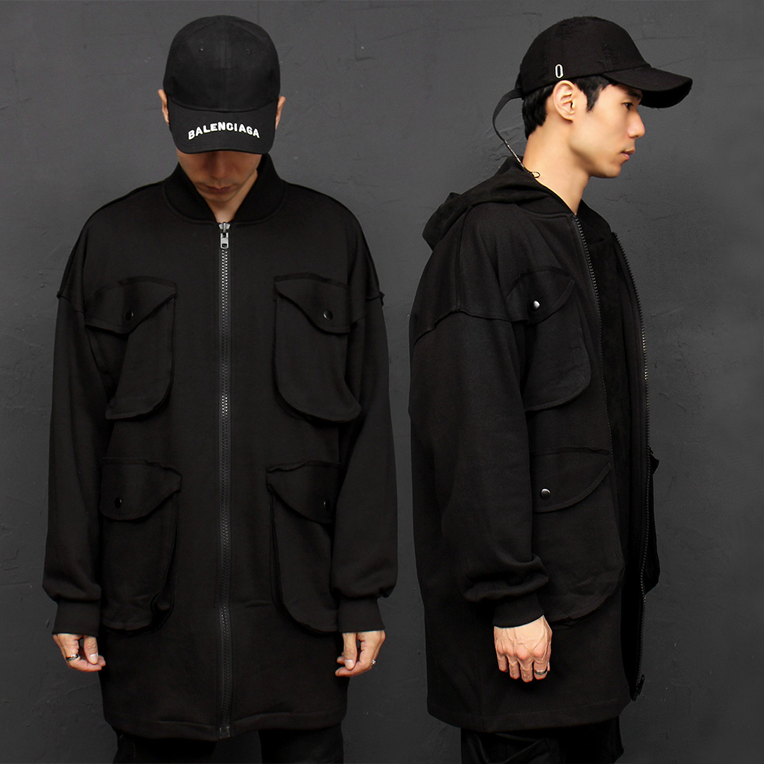 4 Big Pocket Long Blouson Jacket 044