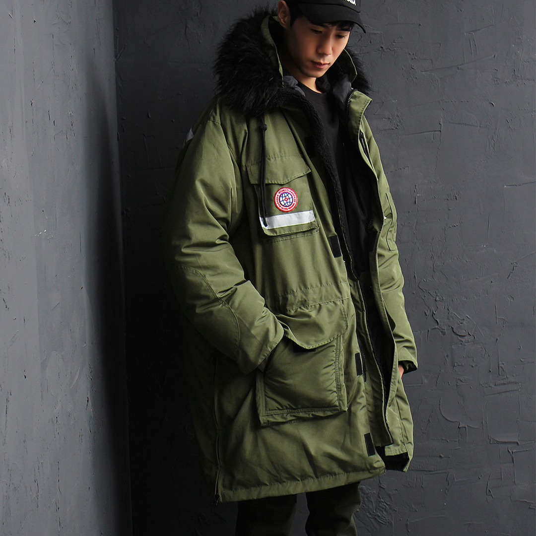 Duck Down Fur Hood Military Parka 015