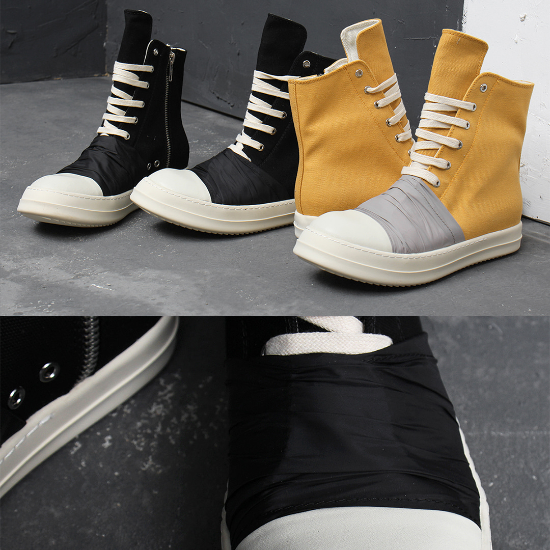 Over Tongue Zip Up Wrapped High Top Sneakers 025