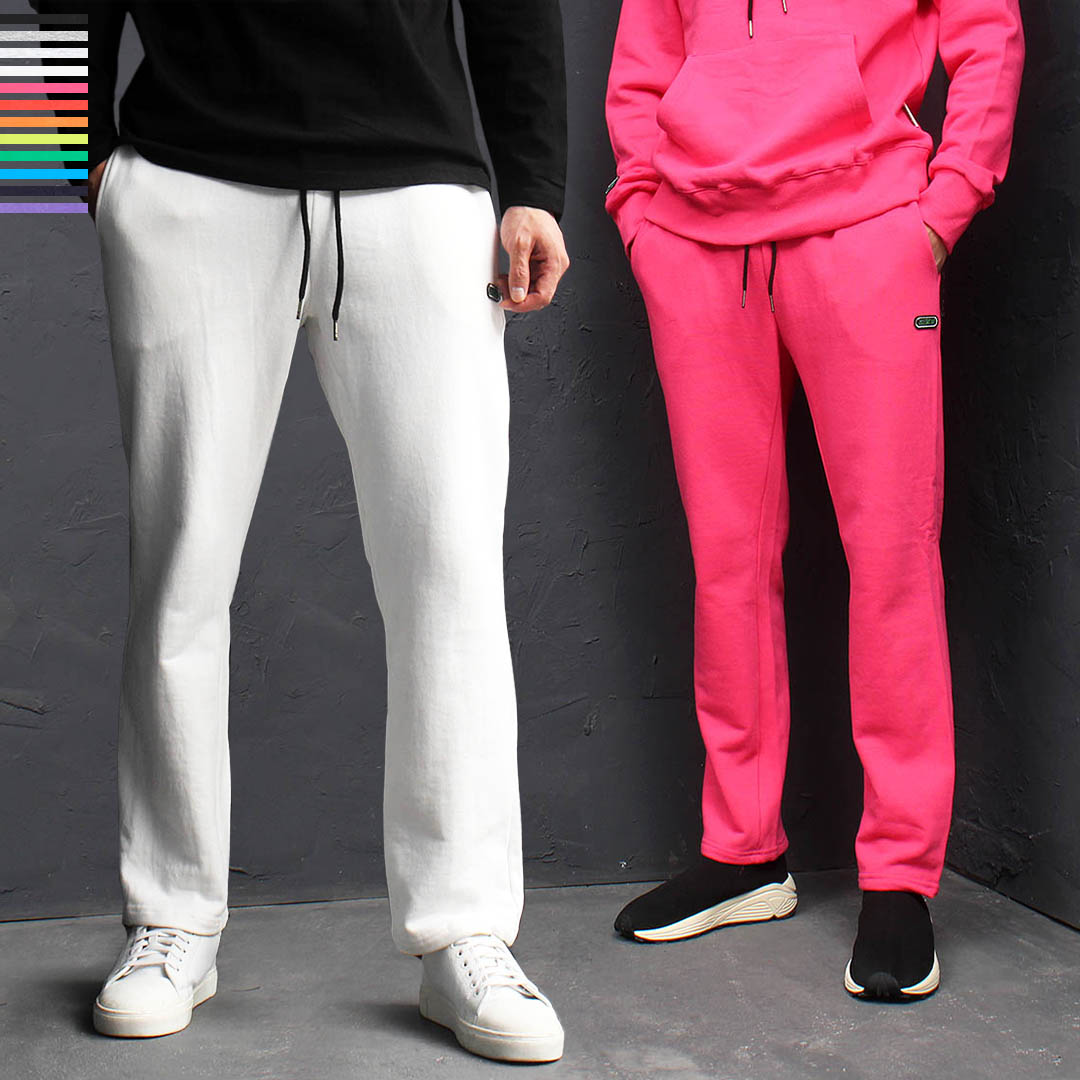 Basic Color Slim Fit Cotton Sweatpants 168