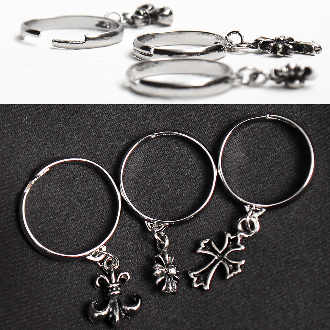 Pendant Adjustable Free Size Steel Ring R82