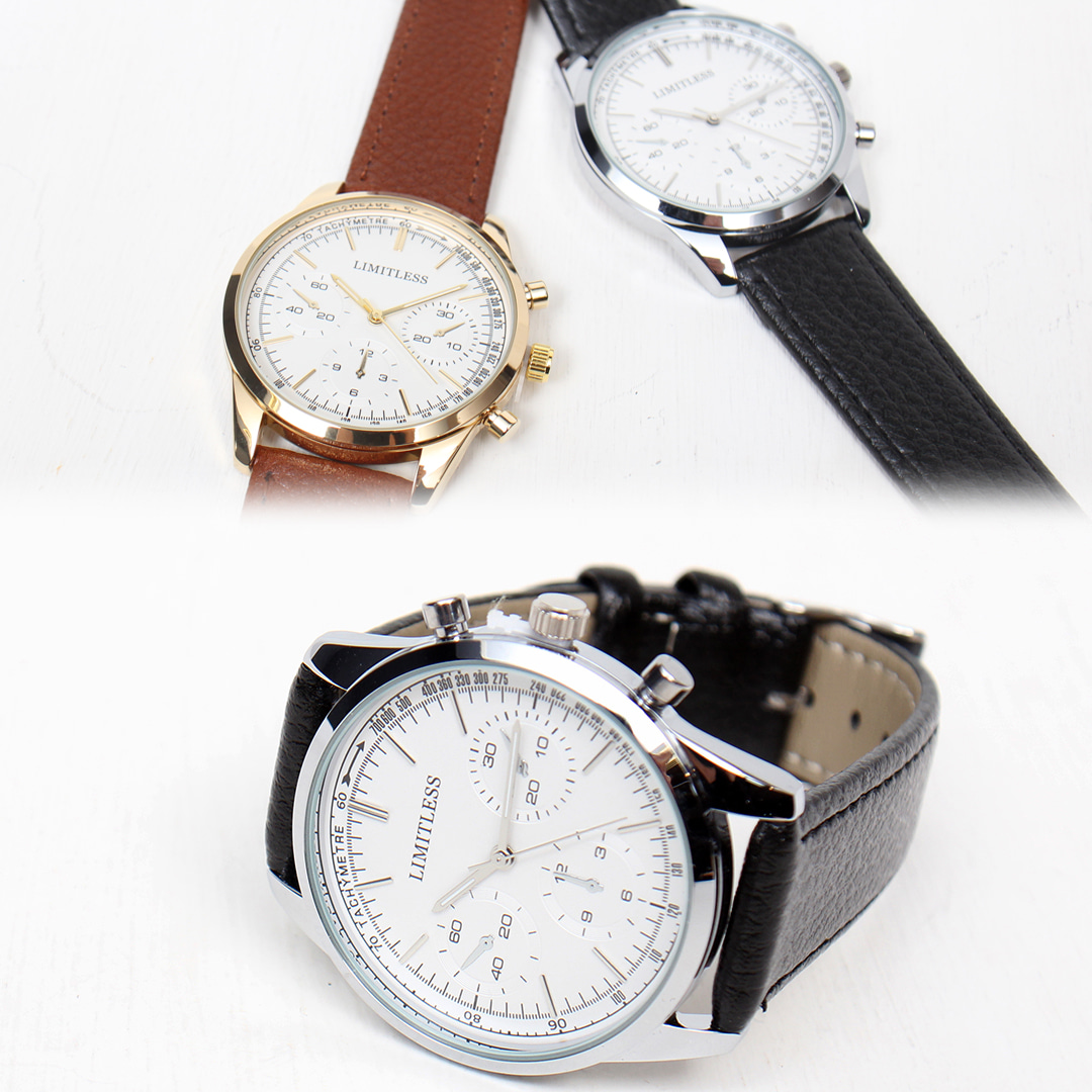 Litmitless Color Round Leather Strap Watch 022