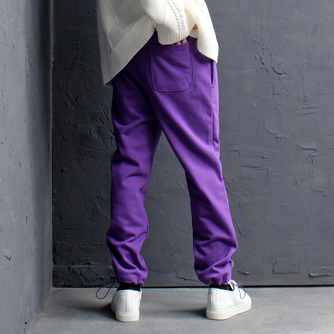 Elastic Waist Hem Cotton Jogger Sweatpants 156
